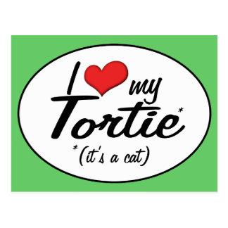 It's a Cat! I Love My Tortie Postcard