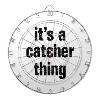 its a catcher thing dartboard with darts