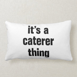 its a caterer thing throw pillows
