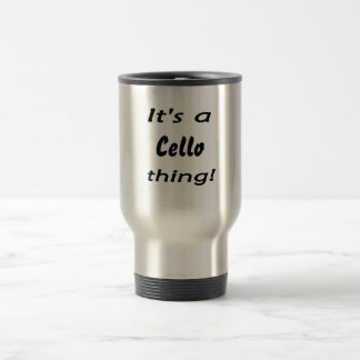 It's a cello thing! 15 oz stainless steel travel mug