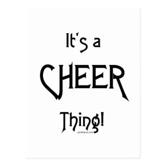 It's A Cheer Thing! Postcard