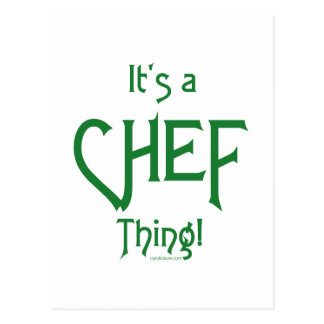 It's a Chef Thing! Postcard