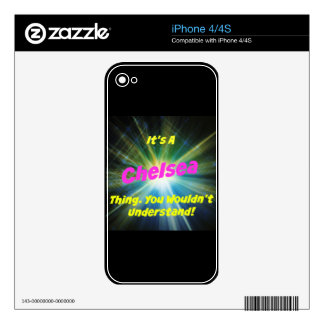 It's a Chelsea thing. You wouldn't understand! Skins For iPhone 4S