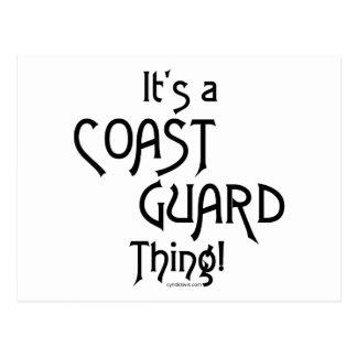 It's a Coast Guard Thing! Postcard