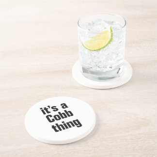 its a cobb thing beverage coasters