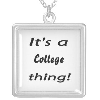It's a college thing! personalized necklace