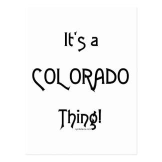 It's a Colorado Thing! Postcard