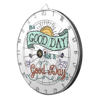 It's a Colorful Good Day Dart Board by Jan Marvin