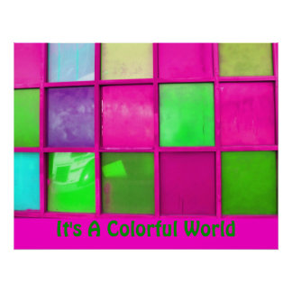 It's A Colorful World Print