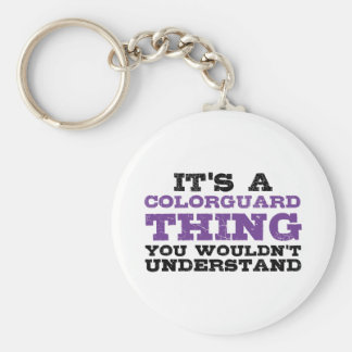 It's a Colorguard Thing Basic Round Button Keychain