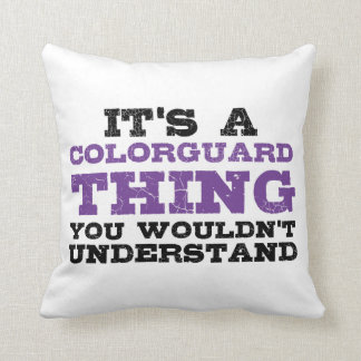It's a Colorguard Thing Throw Pillow