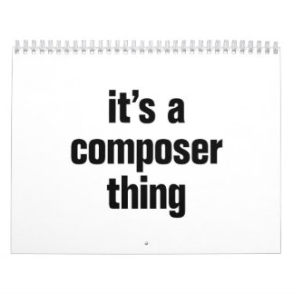 its a composer thing calendar