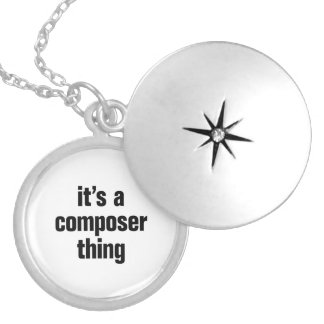 its a composer thing round locket necklace