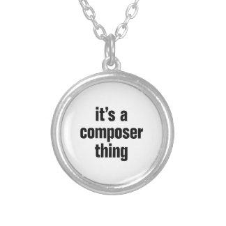 its a composer thing round pendant necklace