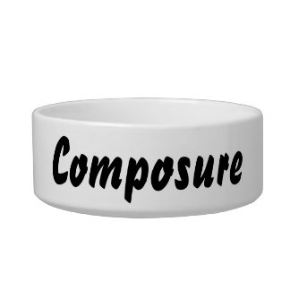 It's a composure thing! bowl
