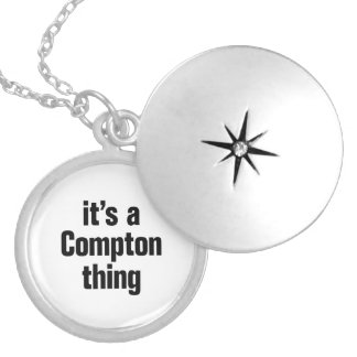 its a compton thin round locket necklace