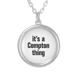 its a compton thing round pendant necklace