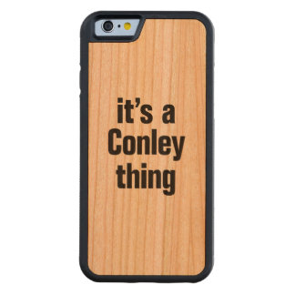 its a conley thing carved® cherry iPhone 6 bumper case
