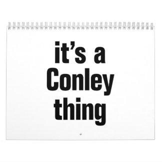 its a conley thing calendar