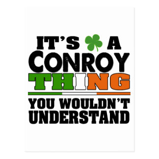 It's a Conroy Thing You Wouldn't Understand Postcard