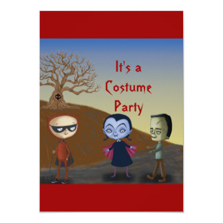 It's a Costume party Card