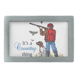 ITS A COUNTRY THING BELT BUCKLE