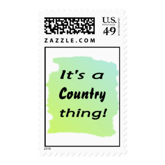 It's a country thing! stamp