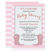 It's a Cowgirl Country Baby Shower Cards