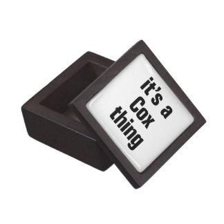 its a cox thing premium keepsake box