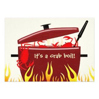 It's a crab boil party invitation