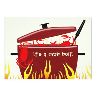 It's a crab boil party invitation