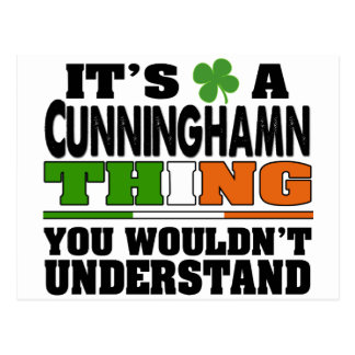 It's a Cunningham Thing You Wouldn't Understand. Postcard