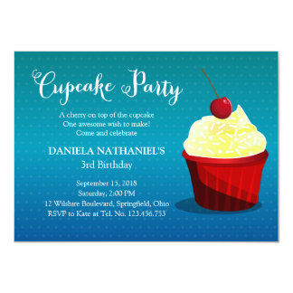It's A Cupcake Party Card
