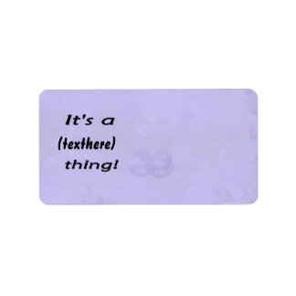 It's a (custom) thing! Bluish mottled background Address Label