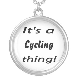 It's a cycling thing! silver plated necklace