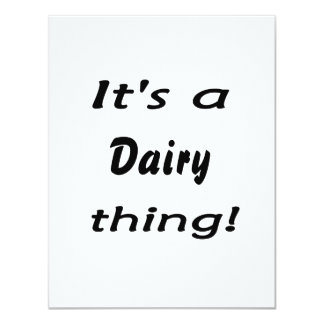 It's a dairy thing! 4.25x5.5 paper invitation card