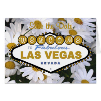 It's A Daisy Save the Date Las Vegas Card