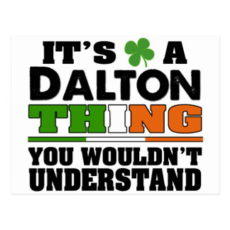 It's a Dalton Thing You Wouldn't Understand. Postcard