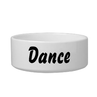 It's a dance thing! bowl