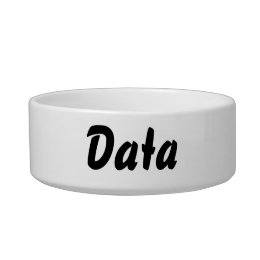 It's a data thing! bowl