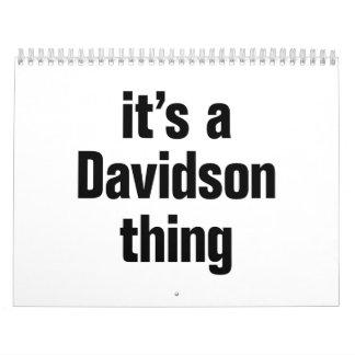 its a davidson thing calendar