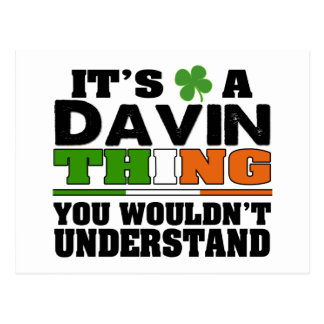 It's a Davin Thing You Wouldn't Understand Postcard