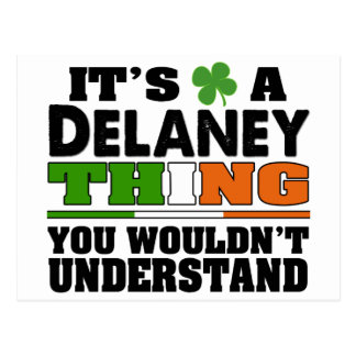 It's a Delaney Thing You Wouldn't Understand. Postcard