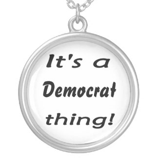 It's a Democrat thing! Necklace