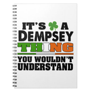 It's a Dempsey Thing You Wouldn't Understand. Notebook