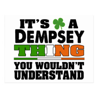 It's a Dempsey Thing You Wouldn't Understand. Postcard
