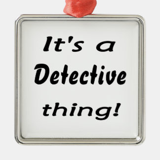 It's a detective thing! christmas tree ornament
