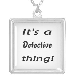 It's a detective thing! square pendant necklace