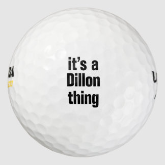 its a dillon thing pack of golf balls