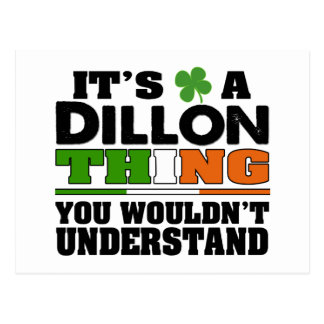 It's a Dillon Thing You Wouldn't Understand. Postcard